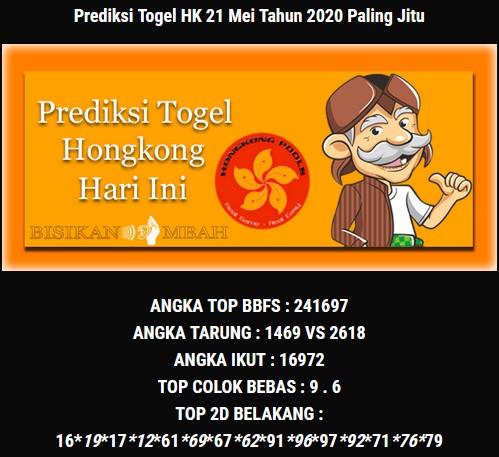 Prediksi Togel Hongkong Kamis 21 Mei 2020 - Bisikan Mbah