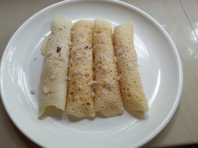 Madakku Pola , Folded Crepes ,  Dosha ,recipe ,maida dosha