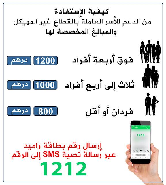 إجراءات الدعم المؤقت للأسر العاملة في القطاع غير المهيكل