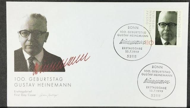 Gustav Walter Heinemann FDC