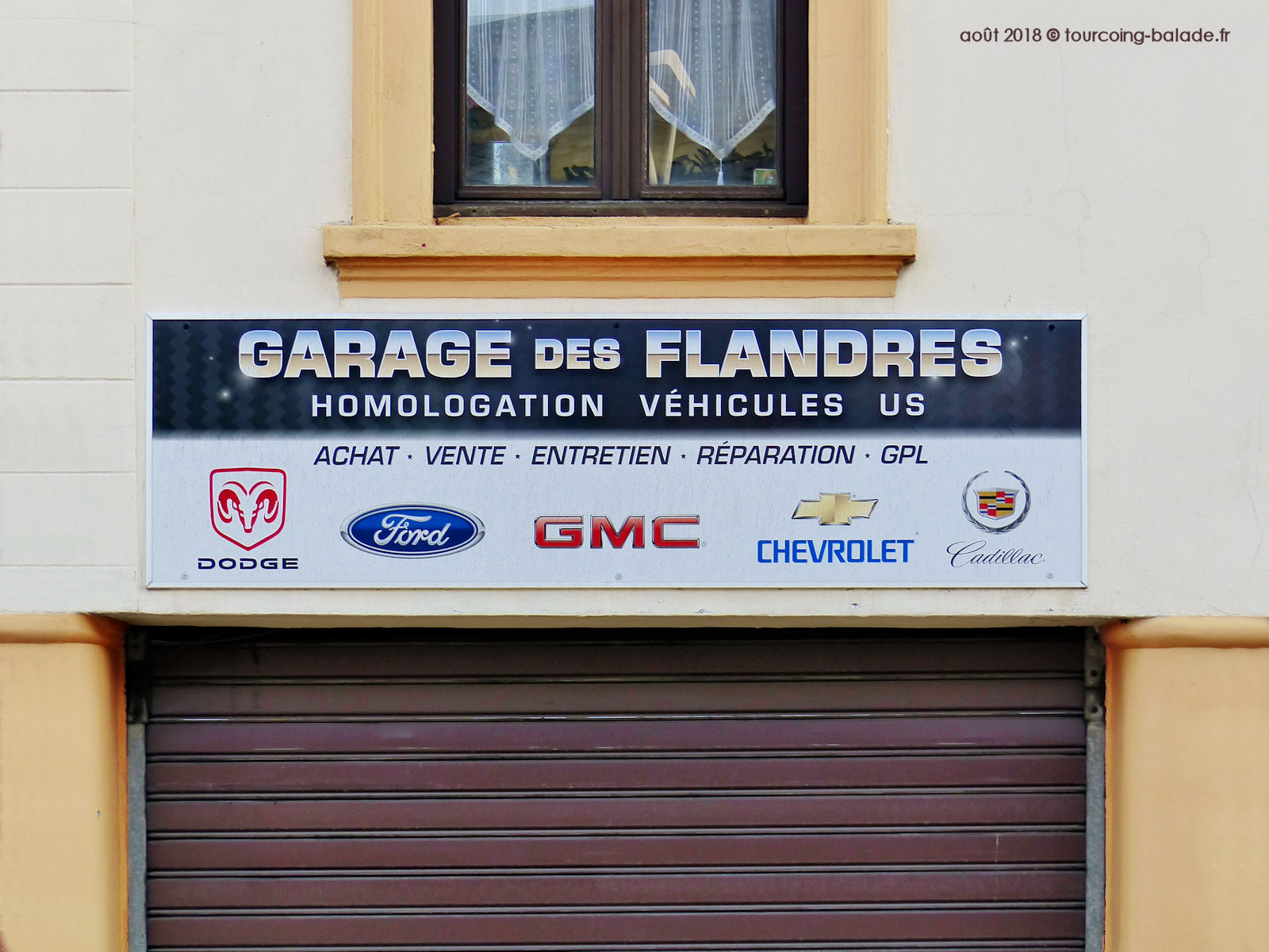Enseigne Garage des Flandres, Tourcoing 2018