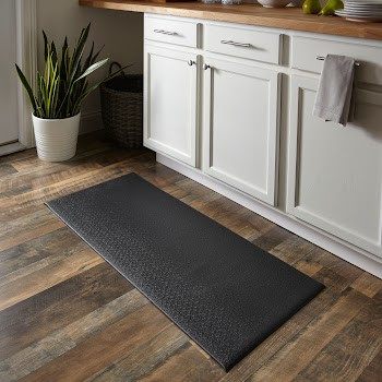 """Mainstays Cushioned Kitchen Mat, Rich Black, 20"""" x 45"""" ONLY $10"""