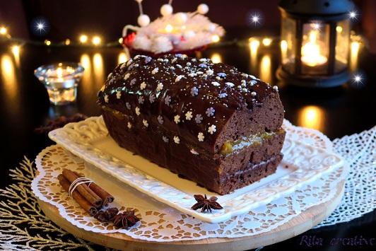 piernik z dżemem i czekoladą
