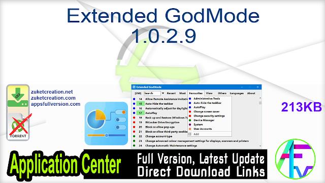 Extended GodMode 1.0.2.9