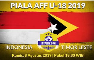 Live Streaming AFF U18 2019 Indonesia vs Timor Leste