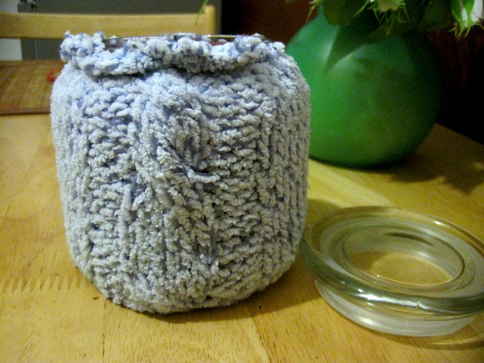 DIY Sweterek na świecę