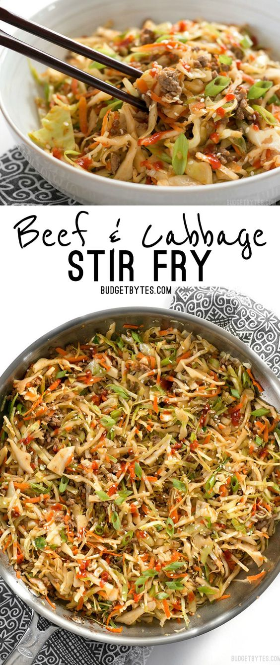 BEEF AND CABBAGE STIR FRY #beef #cabbage #maincoast #dinner