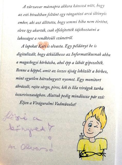 Ecsédi Orsolya: Cirrus a Tűzfalon című ifjúsági regény (Könyvmolyképző kiadó) utazókönyv, kiszínezett illusztrációk, olvasói üzenetek, matricák