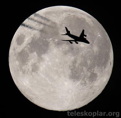 gece ay ve uçak gözlemi