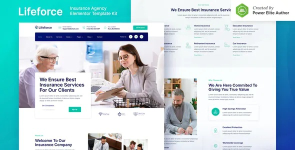 Best Insurance Agency Elementor Template Kit
