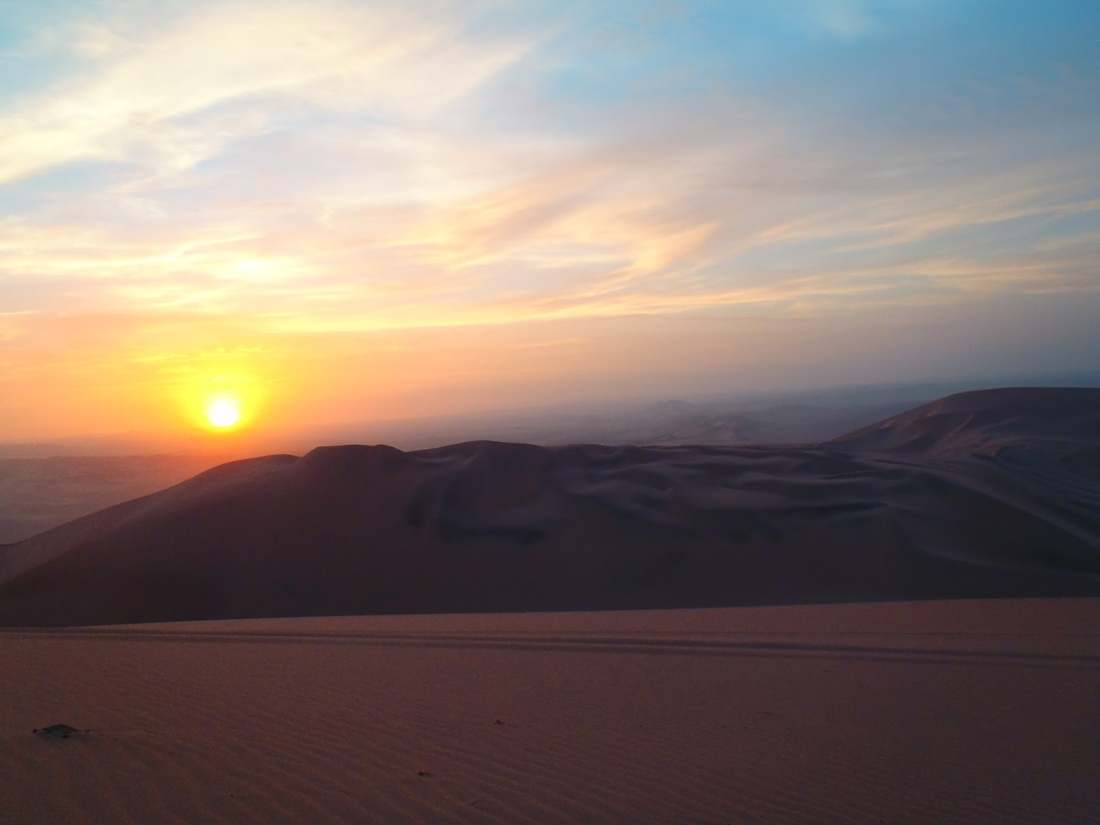 Sunset in Huacachina Peru