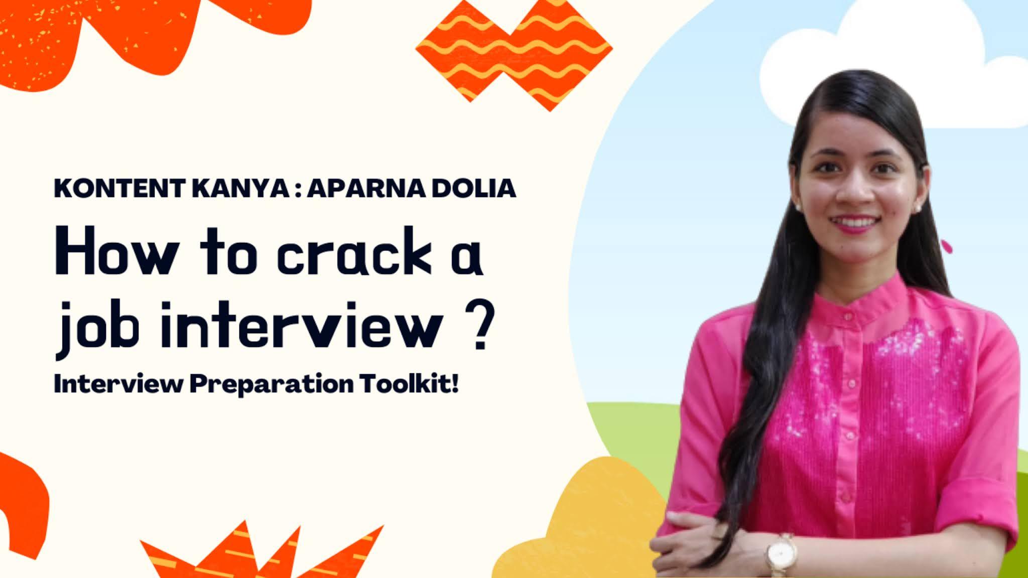 How to crack a job interview: Interview Preparation Toolkit | Kontent Kanya