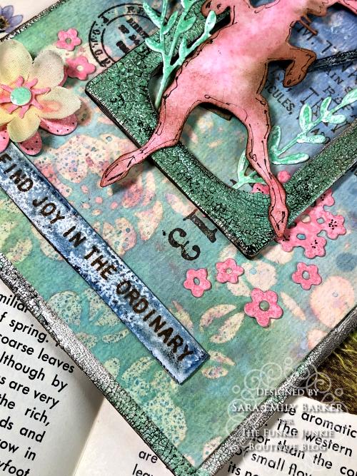 Sara Emily Barker https://sarascloset1.blogspot.com/2020/04/finding-joy-with-tim-holtz-distress.html Mixed Media Card #TimHoltz #StampersAnonymous #Ranger 7