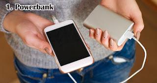 Powerbank merupakan salah satu aksesoris handphone yang cocok dijadikan souvenir