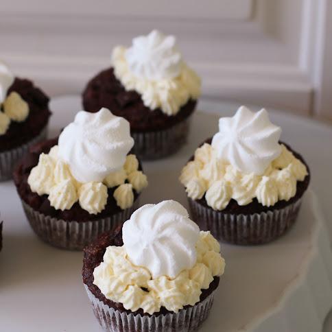 Kawowe muffiny z kremem waniliowym