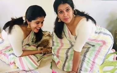 Ex Bigg Boss Malayalam Contestant Rajini Haridas In White Cotton Saree Photos