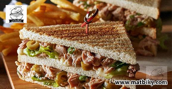 طريقة عمل سندوتشات التونه   طريقة عمل ساندويتش تونة بالمايونيز خطوة بخطوة