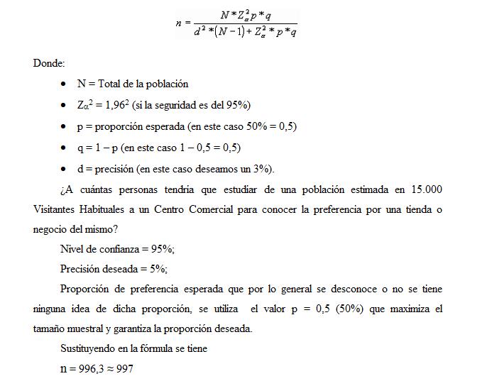 ESTUDIOS DE MERCADOS Y DE OPINIÓN PÚBLICA: CÁLCULO DEL TAMAÑO DE LA ...