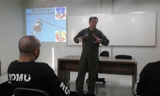GCM de Jandira  - Instrução na Base de Radiopatrulha Aérea da PM