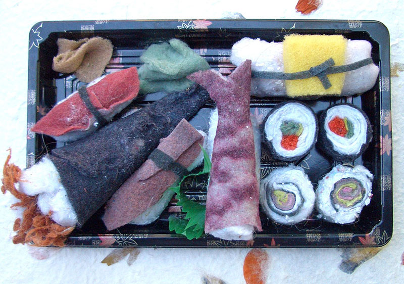 dryer lint sushi