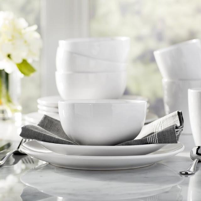 Basics 12 Piece Ceramic Dinnerware Set, Service for 4