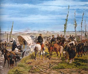 Fattori made a breakthrough with The Italian Camp at the Battle of Magenta in 1859