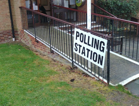 Brookmans Park polling station - image by North Mymms News released via Creative Commons