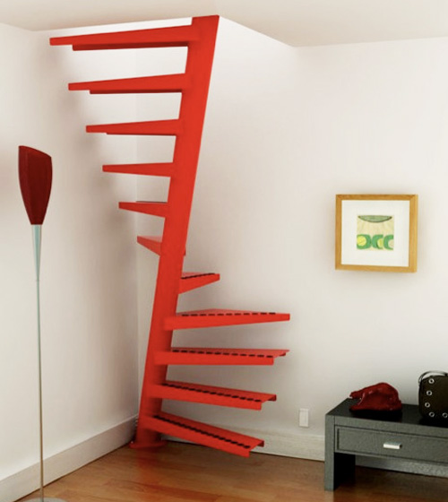 interior house DESIGN: Compact stairs for small home