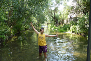 Yo en el río Melendiz.