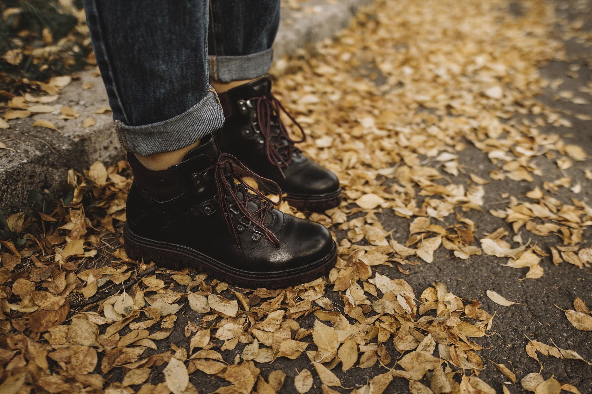 fall bootie, a close up picture