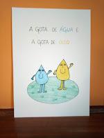 """BANDA DESENHADA """"UMA GOTA DE ÁGUA E UMA GOTA DE ÓLEO"""""""