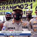 Polda Sumut Cek Pos Pengamanan Ops Ketupat Toba 2021 di Samosir, Lihat Videonya