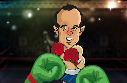 You can punch Landon Donovan with Chicharito's fists in Soccer Knockout video game