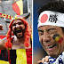 Japan fans Crying after World Cup exit to Belgium