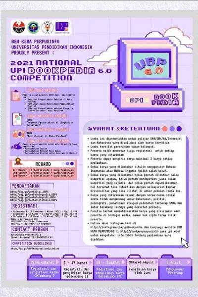 LOMBA NASIONAL UPI BOOKPEDIA 6.0 2021