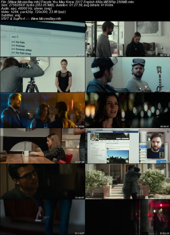 People You May Know 2017 English 480p WEBRip 250MB