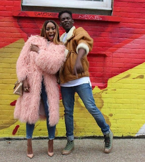 Mr. Eazi and Temi Otedola