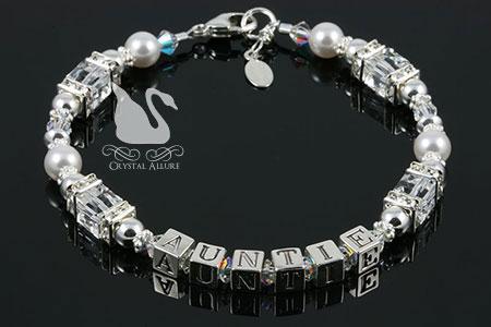 Wanda's Custom Crystal Auntie Bracelet (B182)