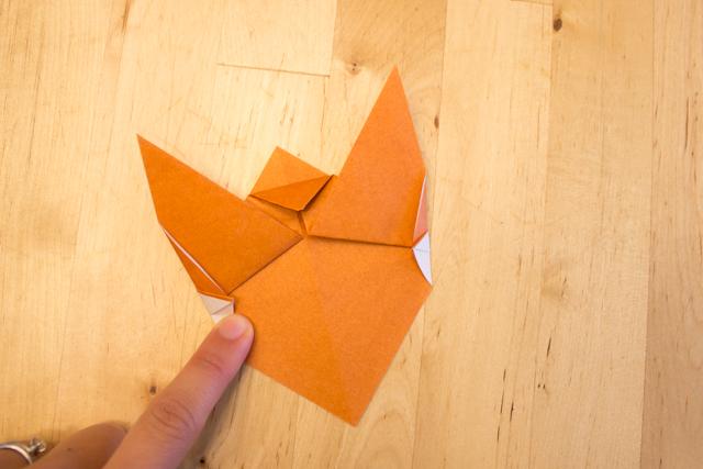 Origami Fox Puppet - YouTube | 427x640