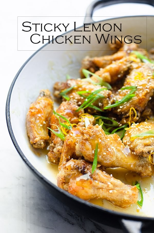 Absolutely delicious Sticky Lemon Chicken Wings