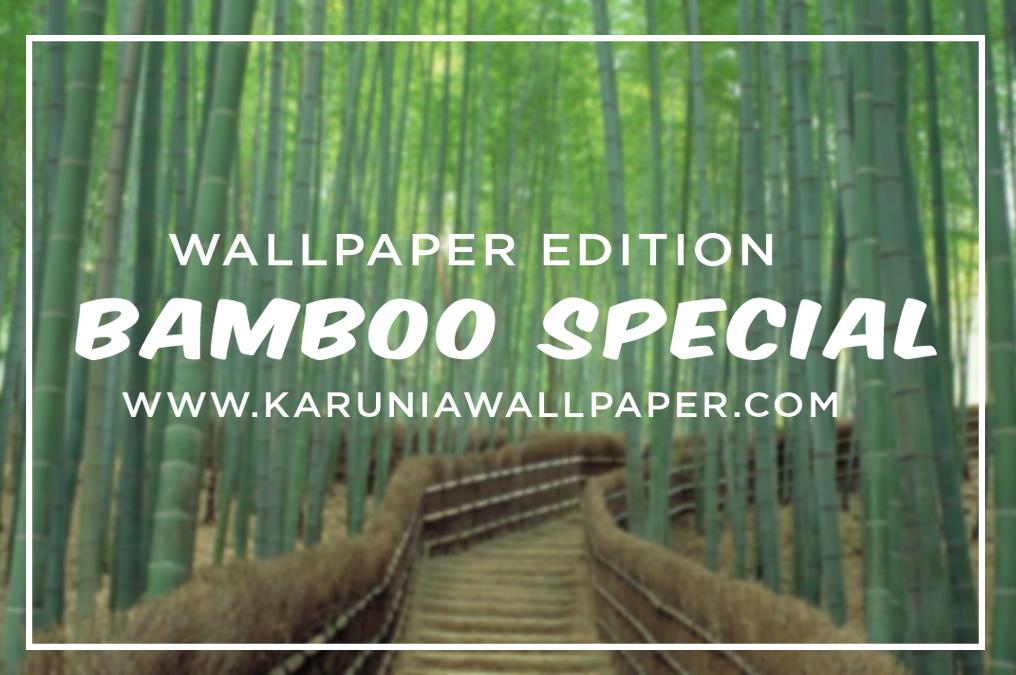 jual wallpaper motif bambu