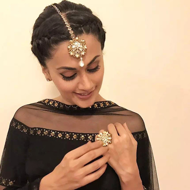 Braided Bun Style With Lehenga