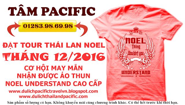 Tặng áo thun Noel Understand khi đặt tour Thái dịp Noel tháng 12/2016
