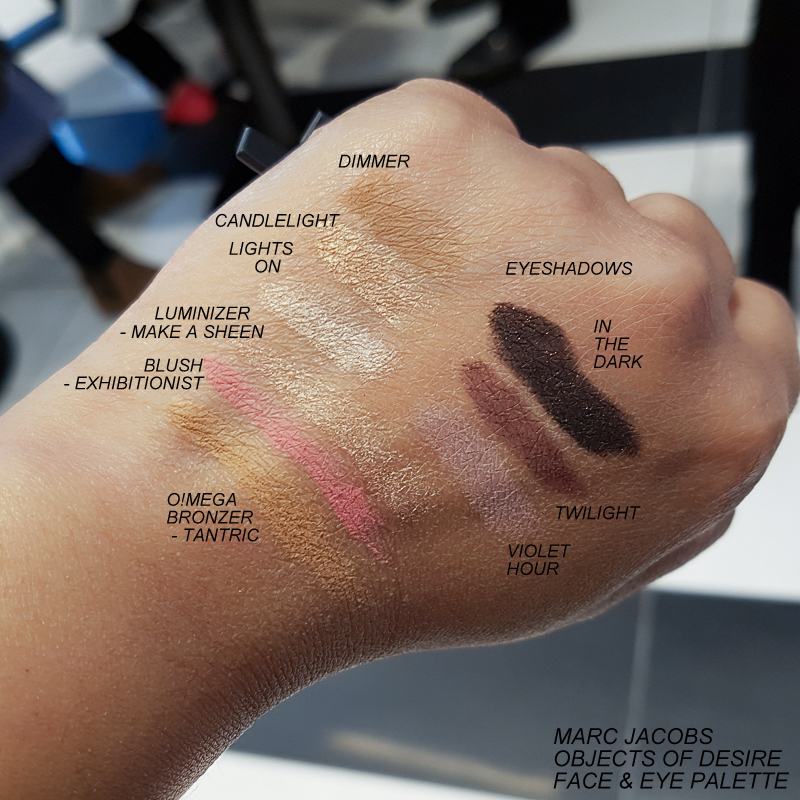 Marc Jacobs Object of Desire Face and Eye Palette - Swatches