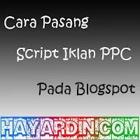 Cara Memasang Script Iklan PPC Kliksaya