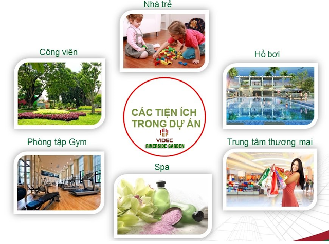 Tiện ích chung cư Riverside Garden - 45 Vũ Tông Phan