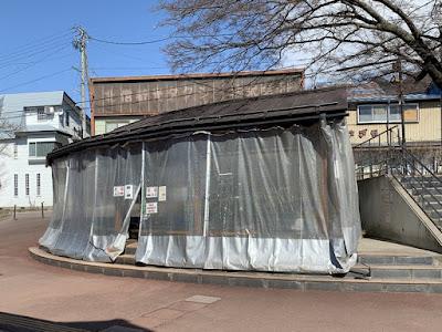 湯田中駅前の足湯