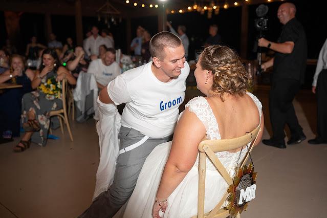 groom dancing for Garter Magnolia Manor Wedding Photos by Stuart Wedding Photographer Heather Houghton Photography