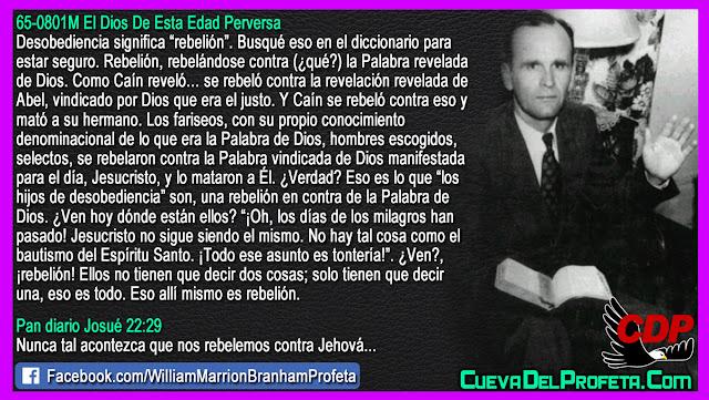 Los hijos de desobediencia y su rebelión - William Branham en Español