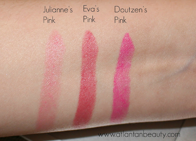 L'Oreal Colour Riche Collection Exclusive Pinks Swatches
